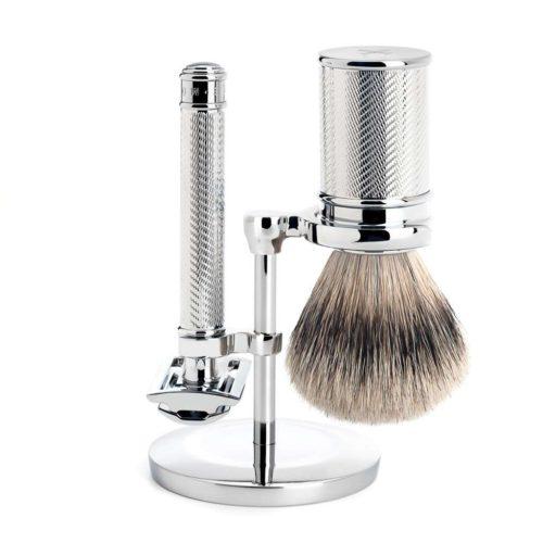 scheerset traditional safety razor silvertip chroo