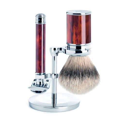 scheerset traditional safety razor silvertip schil copy