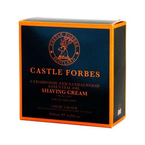 Castle Forbes Cedar and sandalwood shaving cream in doos min castle forbes