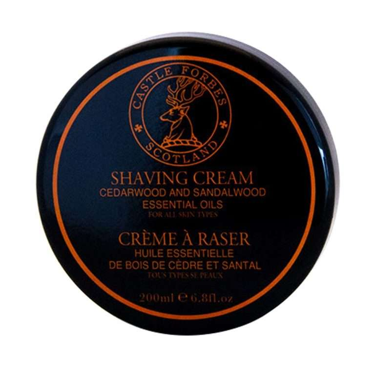 Castle Forbes Cedar- and sandalwood shaving cream1-min